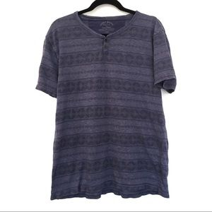 [LUCKY BRAND] Button top T-Shirt w Pattern Size L